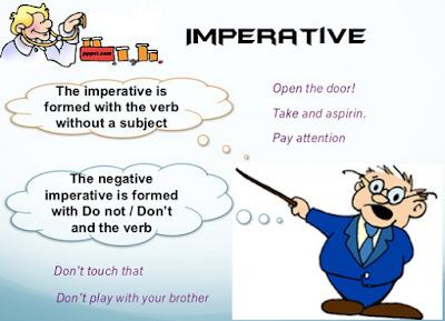 rumus dan cara membuat imperative sentences bahasa Inggris