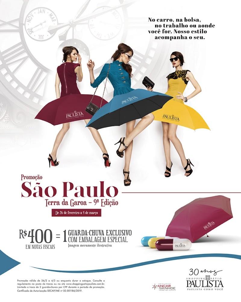 """Shopping Pátio Paulista segue com a promoção """"São Paulo Terra da Garoa"""""""