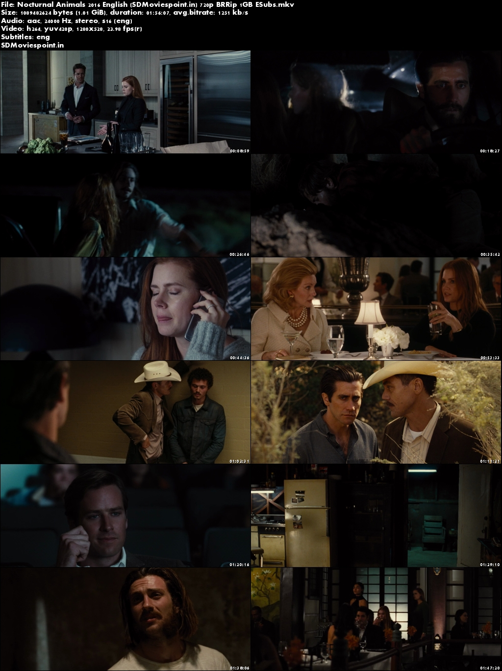 Screen Shots Nocturnal Animals (2016) Full English Movie Download 720p
