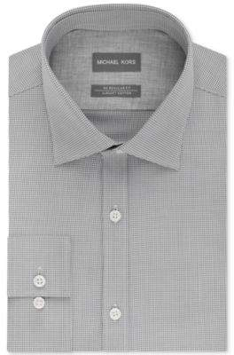 Men's Regular Fit Airsoft Stretch Non-Iron Performance Check Dress Shirt