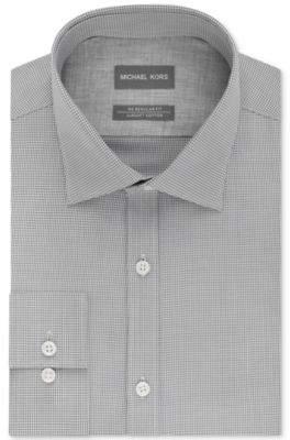 Men's Regular Fit Airsoft Stretch Non-Iron Performance Check Dress Shirt