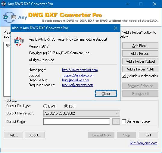 Any DWG DXF Converter 2017 Pro Full  - Converter định dạng bản vẽ autoCAD mọi phiên bản