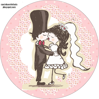 Couple Kissing: Free Printable Wedding Kit.