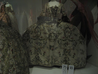 A court mantua, 1760s.