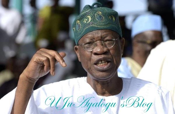 Lai Mohammed Slams FFK & Fayose, Warns Nigerians On Fake News Regarding Buhari
