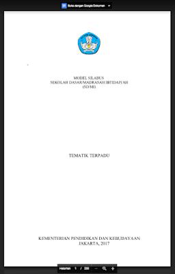Silabus Kurikulum 2013 Revisi 2017 Kelas 5 SD/MI