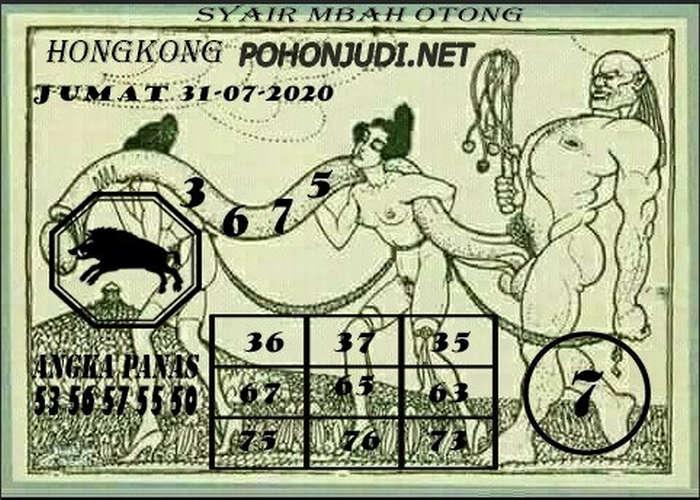 Kode syair Hongkong Jumat 31 Juli 2020 294