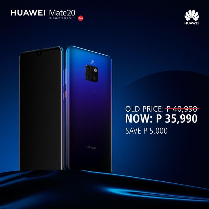 Huawei Mate 20 Receives a Price Cut!