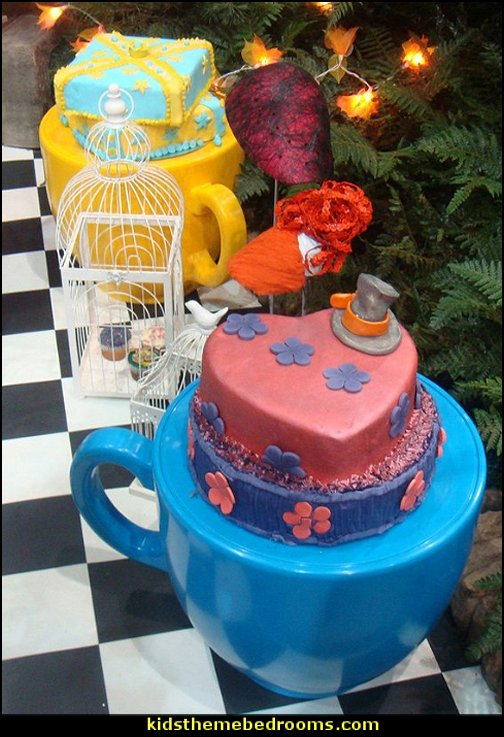 Tea Cup Stool - Alice in Wonderland  Alice in Wonderland party decorating ideas - Alice in Wonderland theme party decorations - Alice in Wonderland costumes -  Alice in Wonderlnd wall decals - Alice in Wonderland wall murals -  tea party theme Alice in Wonderland Tea Party
