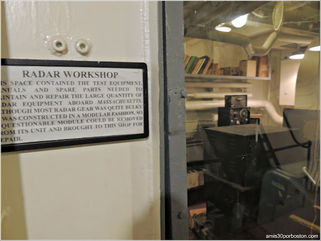 Radar Workshop del USS Massachusetts