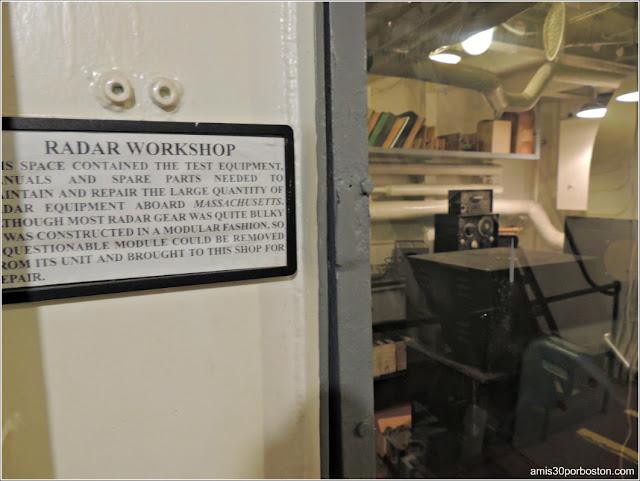 Radar Workshop del USS Massachusetts