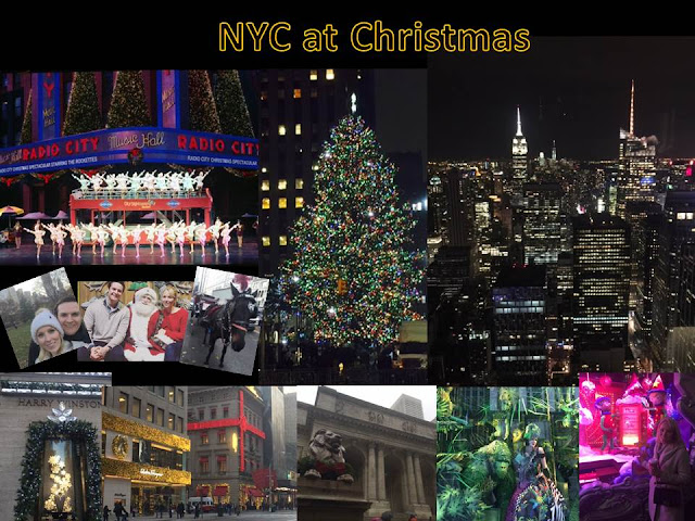 New york city at Christmas time - pictures of New York landmarks and christmas events