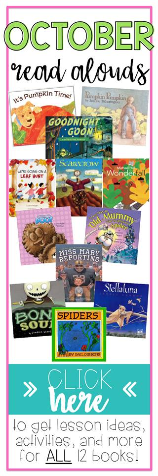 Here are some of the best-loved October books!  Find lesson ideas, activities, free book companions for all 12 books!