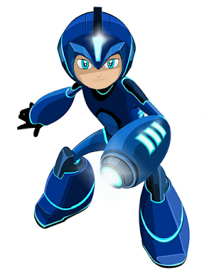 Mega Man cartoon redesign 2017 Dentsu Entertainment Man of Action