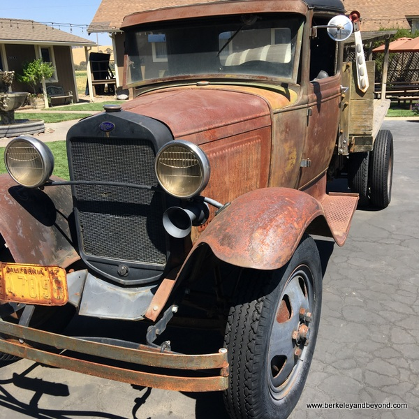 lovely rusted family truck at Wooden Valley Winery & Vineyards in Fairfield, California