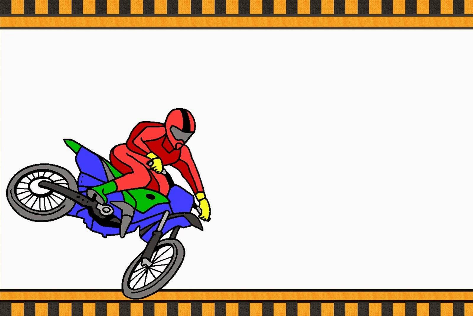 Motocross: Invitaciones para Imprimir Gratis. | Ideas y material ...