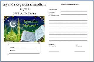 format buku ramadhan