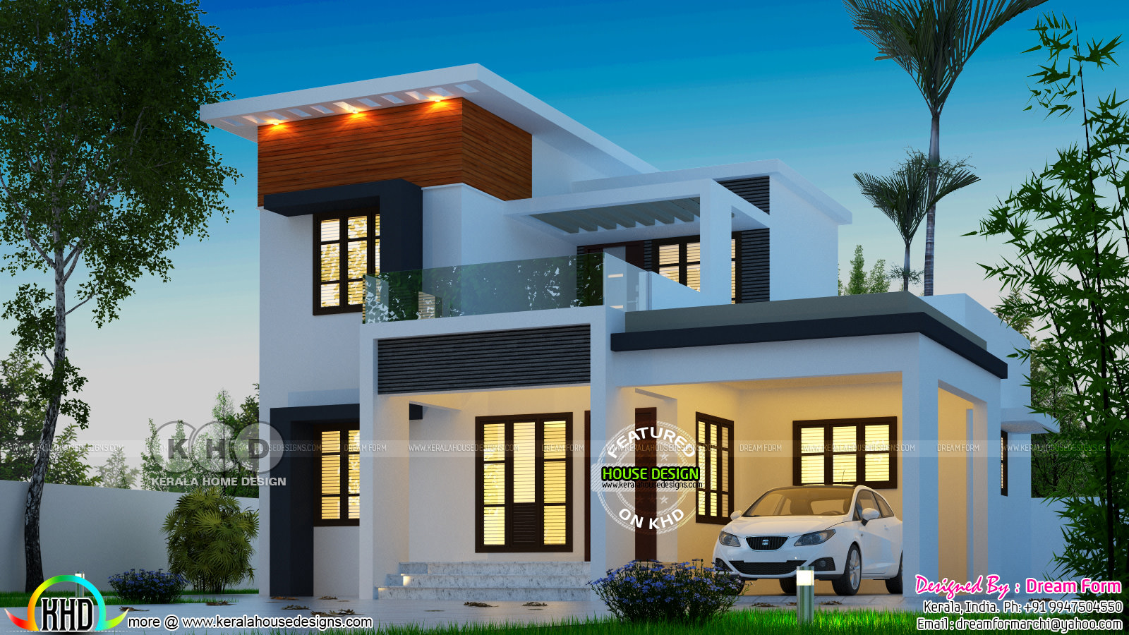 4 Bedroom Modern Beautiful Home Architecture 1628 Sq Ft Kerala Home Design Bloglovin