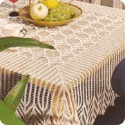 """Mantel Cuadrado """"Gavanzas"""" a Crochet"""