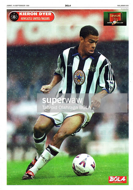 KIERON DYER NEWCASTLE UNITED 1999