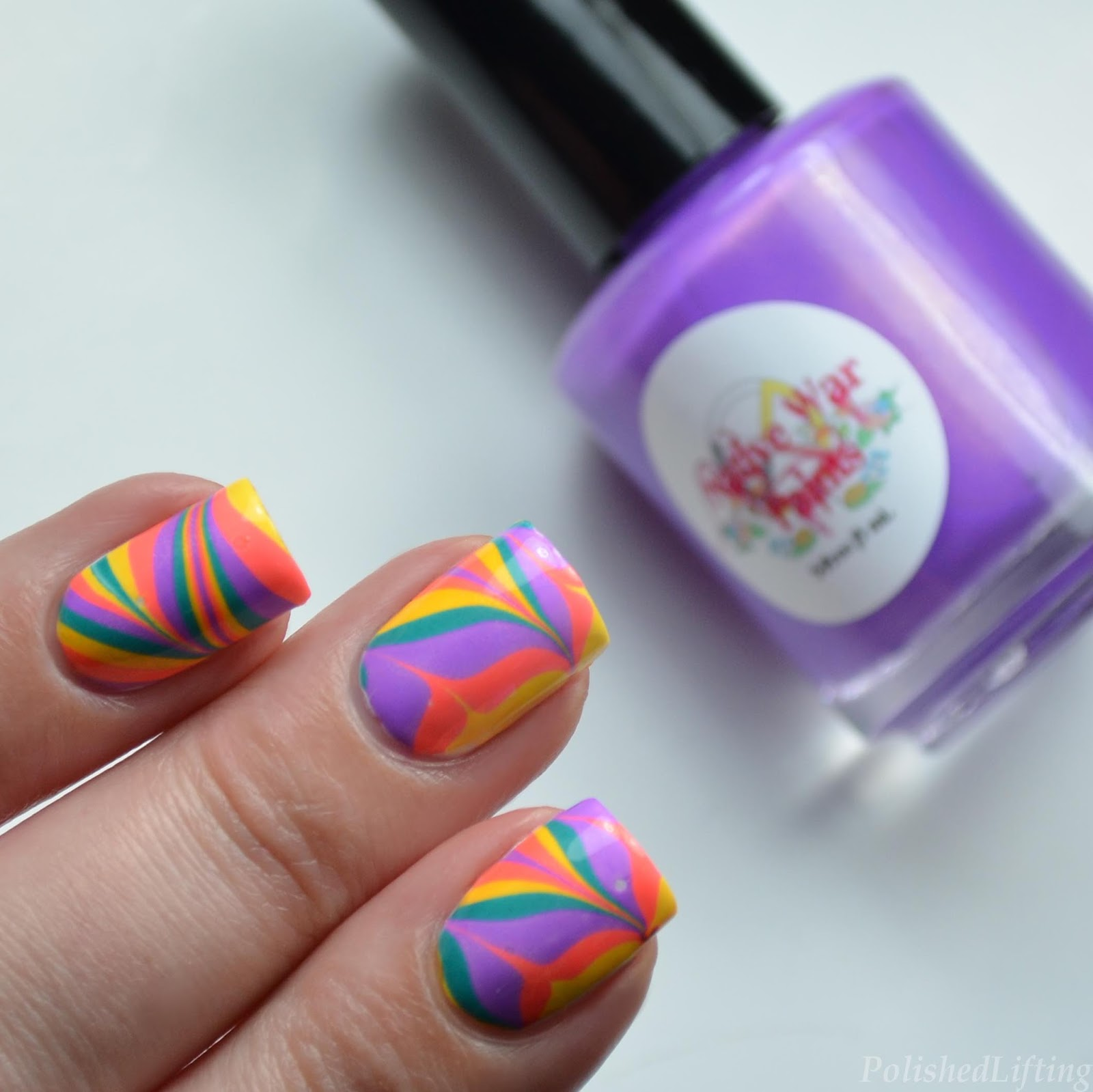 Polished Lifting: Oddball Neon Summer Water Marble featuring Native ...
