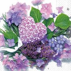 fiori+lilla NOVITA'  Tovaglioli di carta a tema nozzeAvvisi - Novità