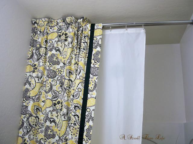 A Stroll Thru Life DIY Double Shower Curtain Liner Tutorial