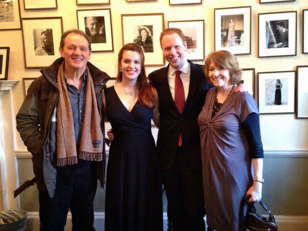Kitty Whately & Joseph Middleton with Kitty's parents at the Wigmore Hall