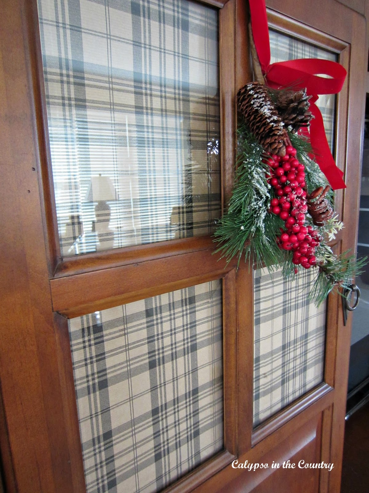 Plaid Wrapping Paper - a quick solution to hide clutter