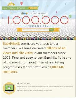 easyhome Cara Mudah Daftar dan Meningkatkan Traffic Blog/Web di Easyhits4u
