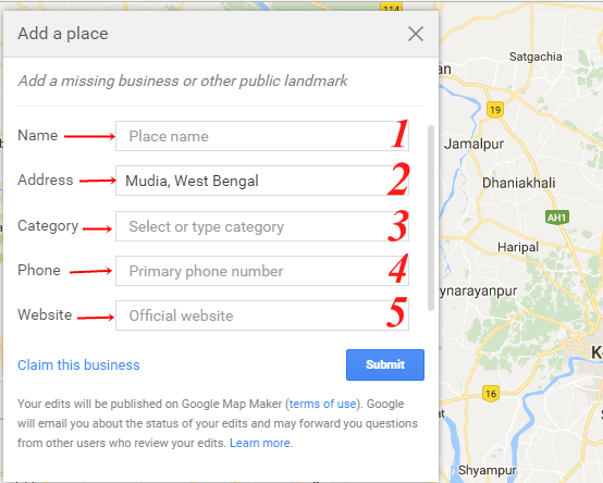 Google map par add kaise kare