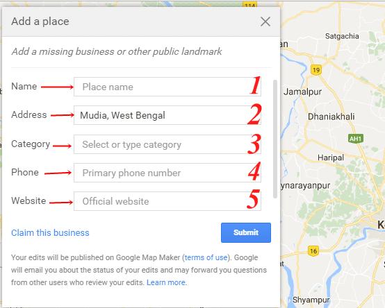 Google map par add kaise kare