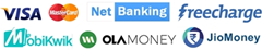 ऑनलाइन भुगतान सुविधा उपलब्ध है - एटीएम कम डेबिट कार्ड | क्रेडिट कार्ड | नेट बैंकिंग | जियो मनी | फ्रीचार्ज | मोबीक्विक | ओला मनी