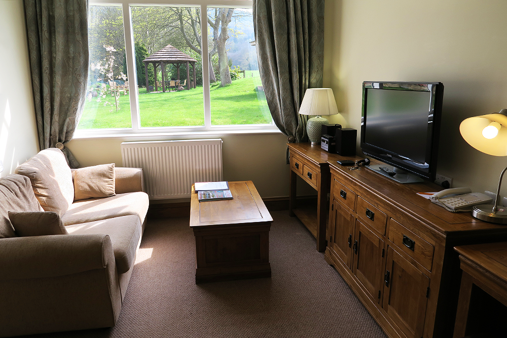 Lounge in the Hornsea luxury suite at Ox Pasture Hall, Scarborough