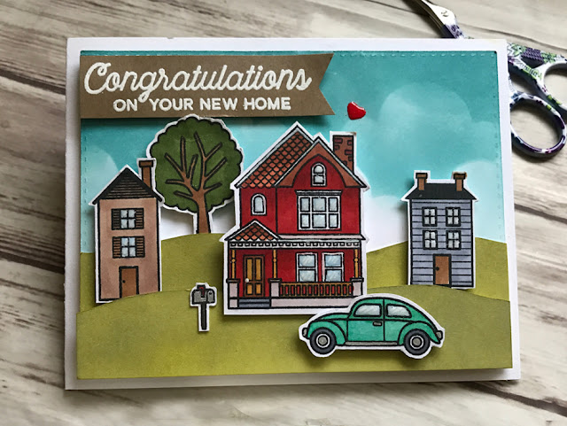 Sunny Studio Stamps: Happy Home & City Streets card by Anna Kim
