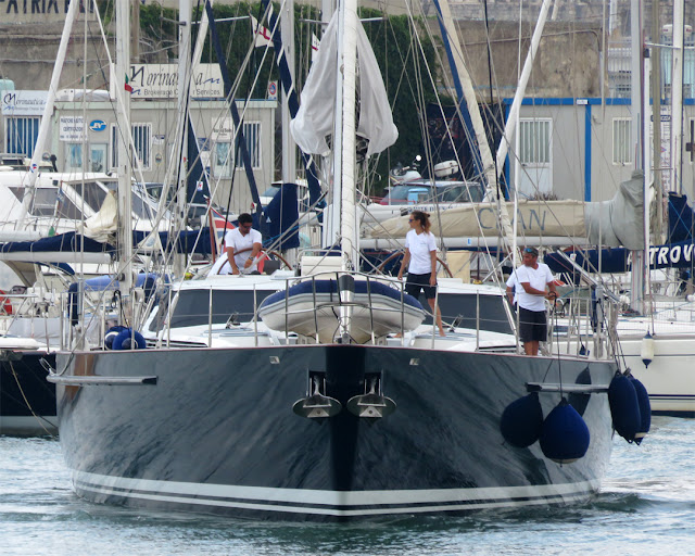 "The 44-meter yacht ""Imagine"" inside the Porto Mediceo, Livorno"