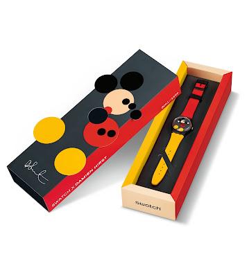 Mickey Swatch x Damien Hirst