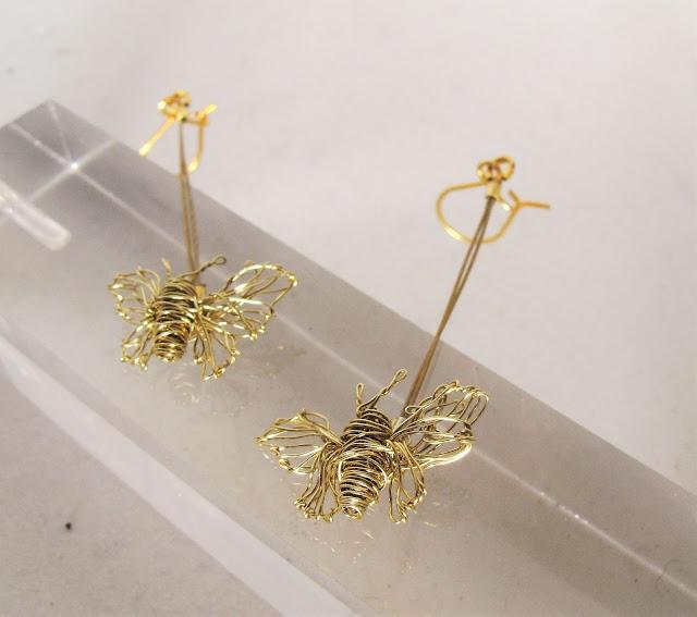 Art handmade earrings, modern earrings
