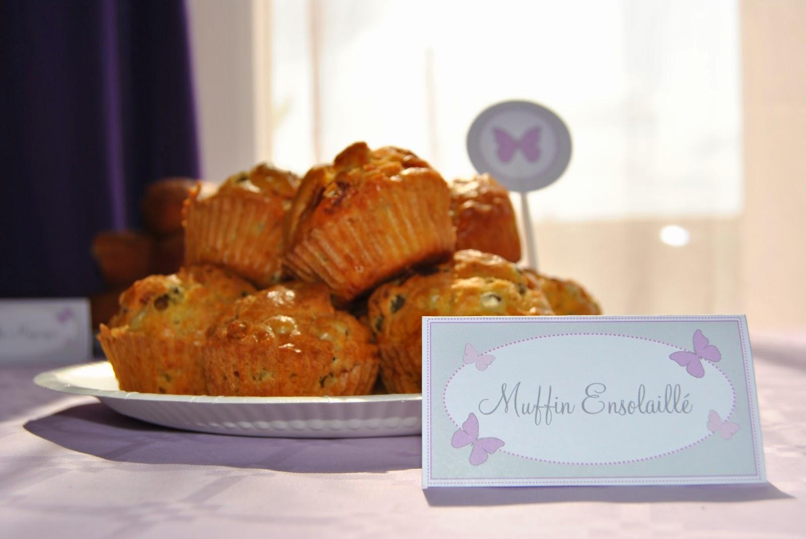 muffins speciaux decores au theme papillon