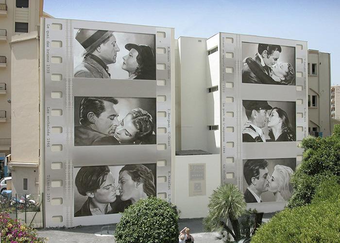 French Artist Transforms Boring City Walls Into Vibrant Scenes Full Of Life - Stars' kisses