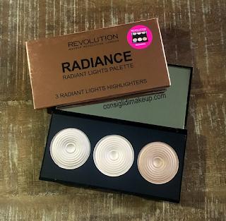 Radiance Palette Makeup Revolution, la palette di illuminanti