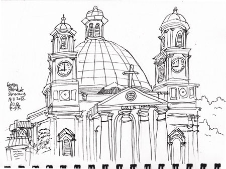 Sketsa Gereja Blenduk