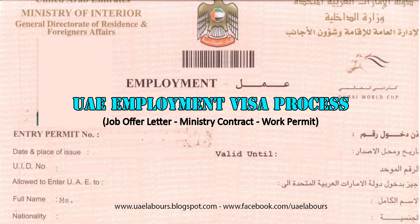 Uae Employment Visa Process Step By Step Guide Uae Labours