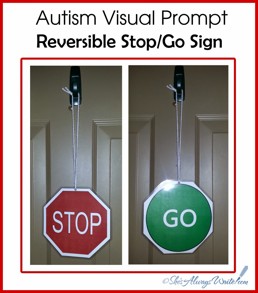 Attractive She's Always Write: Autism Visual Tool: Reversible Stop and Go Sign SU72