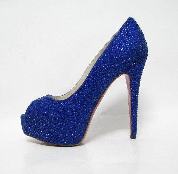 A Wedding Addict: Royal Blue Wedding Shoes