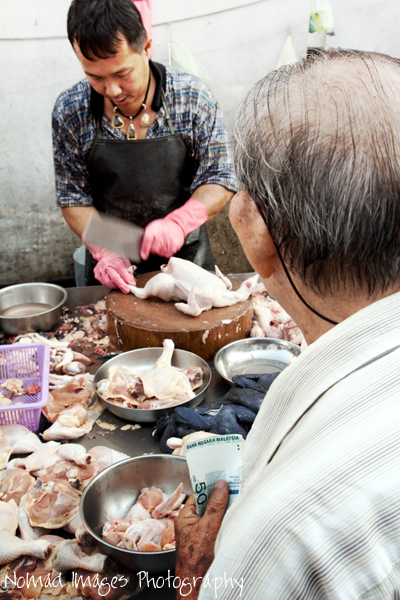 butcher on market in malaysia