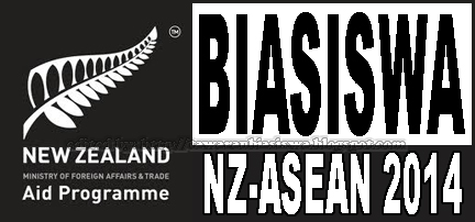 Tawaran Biasiswa New Zealand-ASEAN (NZ-AS) 2014