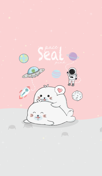 Seal On Space Pink