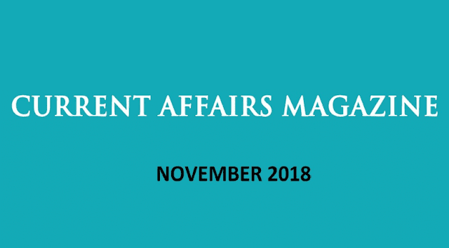 Current Affairs November 2018 iasparliament