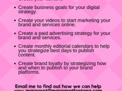 Digital & Content Media Services - Contact Margaret Fontana Media